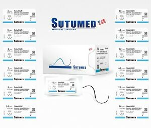 Sutumed Sutu silk 4 0 3 8 13mm Reverse Cutting Double Surgical Sutures