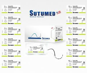 Sutumed Sutu lon Nylon 7 0 3 8 13mm Spatulated Double Surgical Sutures