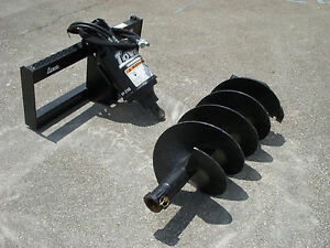 Lowe Bp210 Round Auger Drive With 18 Auger Bit Fits Skid Steer Loader Planetary