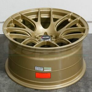 18x9 75 Gold Wheels Xxr 530 5x100 5x114 3 20 Set Of 4