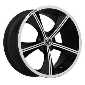 Carroll Shelby Cs 70 20x9 5x114 3 Offset 30 Black With Machind Face Qty Of 1