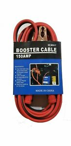 Heavy Duty 12 Ft 10 Gauge Car Booster Jumper Cables Tangle Free 150 Amp