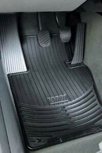 Bmw Genuine Black All Weather Rubber Floor Mats Fronts 2004 2010 X3 82110305566