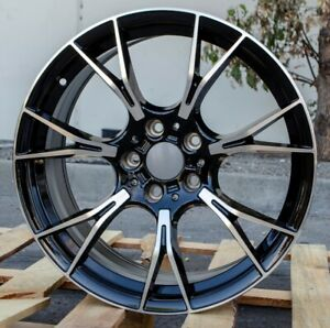 M5 Competition Style 19x8 5 9 5 5x120 35 38 Black Machined Face Wheels Fit Bmw