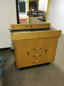 Vintage Solid Wood Pediatric Baby Exam Table W Health o meter Scale