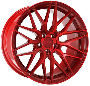 18x9 5 Candy Red Wheels F1r F103 5x114 3 38 set Of 4