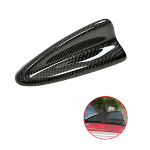 Universal Gloss Real Carbon Fiber Roof Shark Fin Dummy Decorative Antenna Trim