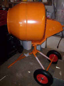 Mixer Concrete Cement Mixer Electric 8cu Ft 1 2 Hp Motor W stand Orange