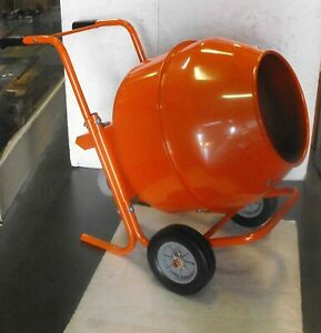 Mixer Concrete Cement Mixer Electric 8cu Ft 1 2 Hp Motor Wheel Barrow Type