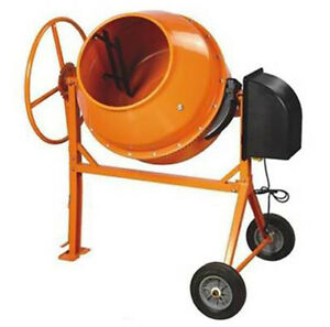 Mixer Concrete Cement Mixer Electric 8 83 Cu Ft 1 3 8 Hp Motor W tri Stand