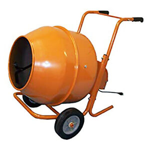 Mixer Concrete Cement Mixer Electric 5cu Ft 1 2 Hp Motor Wheel Barrow Type