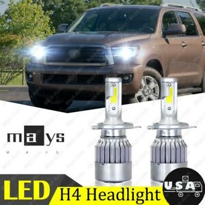 H4 9003 Led Headlight Kit Bulbs For Toyota Tundra Tacoma Trd Yaris Ia Sequoia