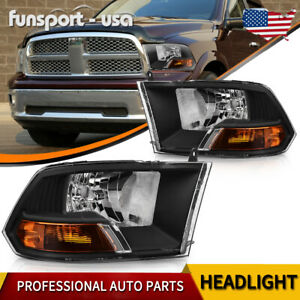 Headlights For 2009 2012 Dodge Ram 1500 2500 3500 Dual Model Headlamps Assembly