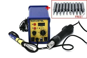 Baku Bk 878l 110v Digital Soldering Hot Air Rework Station 10 Soldering Tips