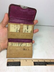 Antique Crowley S Lion Brand Sewing Needles Leather Book Case Imported England