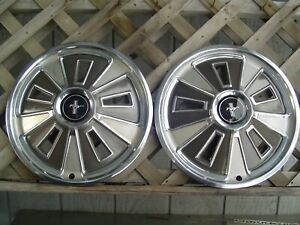 Two Nice 1966 66 Ford Mustang Hubcaps Wheelcovers Center Caps Vintage Classic