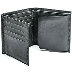 Winchester Oval Police Badge Wallet Bifold Rfid Blocking Genuine Leather