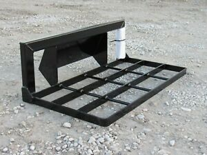 10 120 Snow Pusher Box Plow Blade Attachment Fits Skid Steer Loader Free Ship