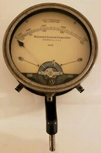 Vintage Mcintosh Electrical Corporation Milliammeter Gauge Meter With Bracket