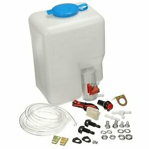 Classic Cars Universal Windscreen Washer Pump Bottle Kit Cleaning Tools 12v