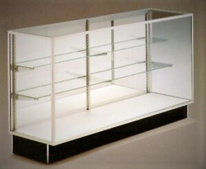 Mirrored Back Display Case 38 X 20 X 70 With Light Used Perfect Condition