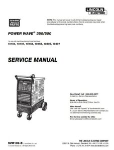 Lincoln Power Wave 350 500 Service Manual