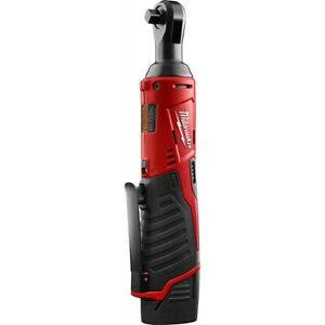 Milwaukee M12 Cordless 3 8 In Lith ion Ratchet W 1 Redlithium Cp1 5 Battery