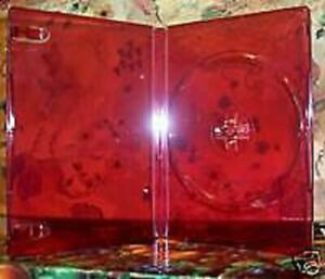 5 Pcs 14mm Translucent Red Single Dvd Cases Bl72hd Free Shipping In Usa