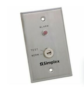 Simplex 4098 9834 Test Station With Key Switch And Red Led Alarm Indicator