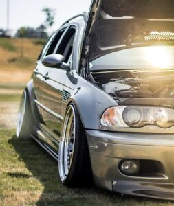 Bmw E46 M3 Side Skirt And Rear Bumper Extension Splitters