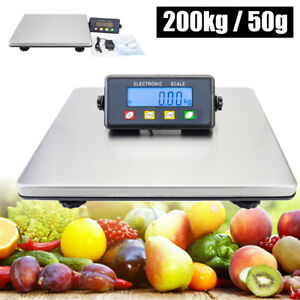 Digital Postal Scale 200kg 50g Capacity Shipping Packing Mail Lcd Display Device