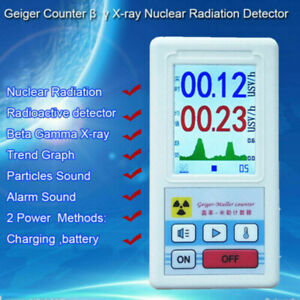 Digital Lcd Nuclear Radiation Detector Tester Geiger Counter Beta Gamma X ray