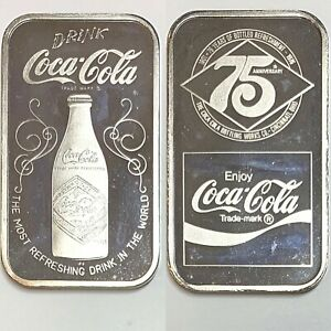 Coca Cola • Cincinnati, OH • 1 oz Silver Bar GEM BU Mint Condition Serial #5714