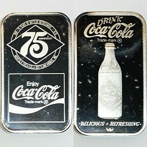 Coca Cola • Norfolk, VA • 1 oz Silver Bar • GEM BU MINT Condition #2580