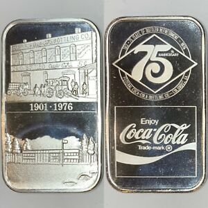 Coca Cola • Columbus, GA Federal • 1 oz Silver Bar • GEM BU MINT • RARE! #000954
