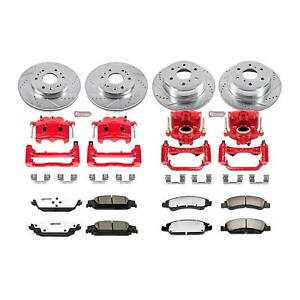 Brake Rotors Pads Red Calipers Drilled slotted Rotors Z36 Pads Front rear Cadill
