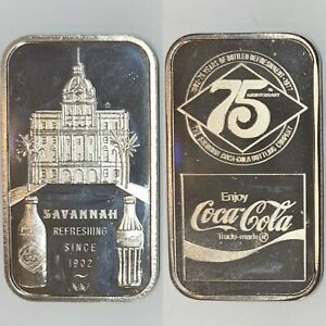 Coca Cola • Savannah, GA • 1 oz Silver Bar • GEM BU MINT • Serial #1761