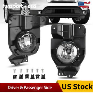 Pair For 2011 2015 Ford Explorer Front Fog Light Lamps W Bulbs Bracket Clear Us