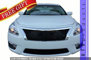 Gtg Gloss Black 2pc Billet Grille Grill Kit Fits 2013 2015 Nissan Altima Sedan