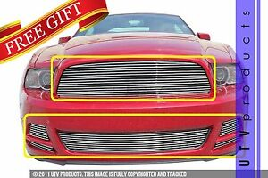 Gtg 2013 2014 Ford Mustang V6 6pc Polished Custom Replacement Billet Grille Kit