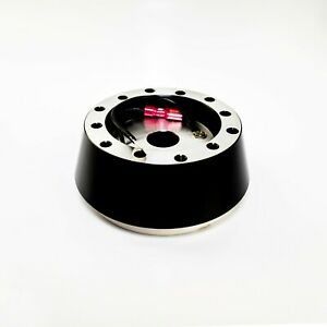 Black Short Hub Steering Wheel Adapter Kit For Momo Nrg Sparco Illinium Flux