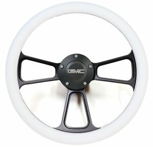 1974 1994 Gmc C Series Pick Up Truck Black Billet White Steering Wheel Kit