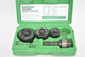 Greenlee 735bb Ball Bearing Knockout Punch Set 1 1 4 1 3 4