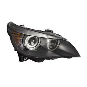 Headlight Halogen Black Housing Right Fits 08 2010 Bmw 5 Series 528i 535i 550i