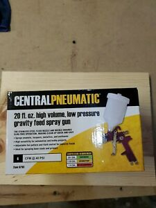 Central Pneumatic 47016 High Volume Low Pressure Gravity Feed Paint Spray Gun 20