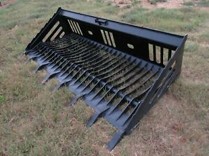 Bobcat Skid Steer Attachment 84 Rock Skeleton Bucket With Teeth Ship 179