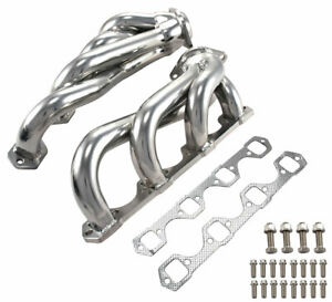 1986 1993 Mustang 5 0 V8 302 Polished T304 Stainless Steel Shorty Short Headers