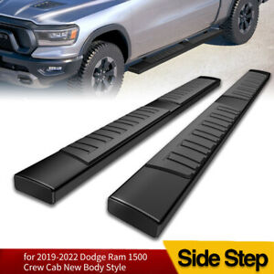 For 2019 2020 Dodge Ram 1500 Crew Cab 6 Running Board Nerf Bar Side Step Black