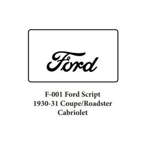 Trunk Floor Mat Cover For 30 31 Ford Coupe Hi Def Rubber Smooth W F 001 Script