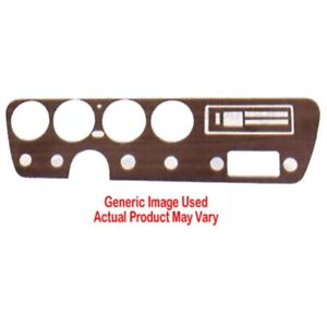 Dash Insert For 1971 74 Plymouth Cuda 4 Cluster Gunstock Made In Usa